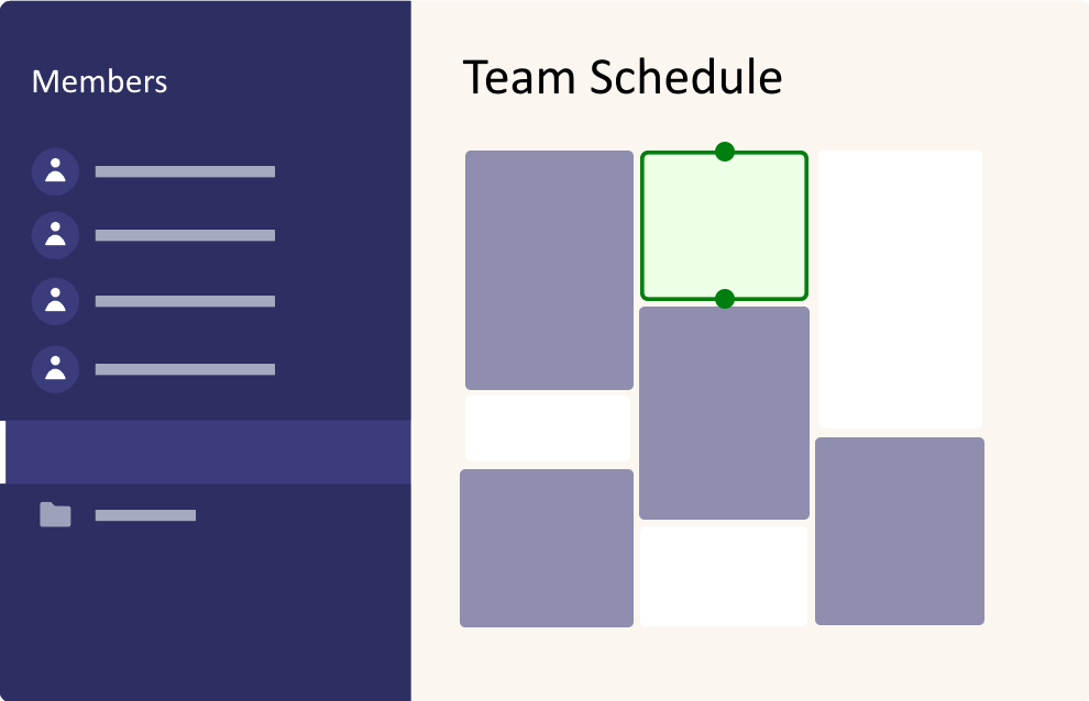 Create a team and combine availability of all team members to easily schedule meetings.